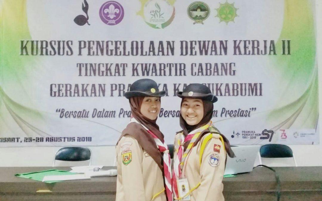 Perwakilan Pramuka MAN 4 Sukabumi dalam kegiatan KPDK II Kuartal Cabang Kab. Sukabumi